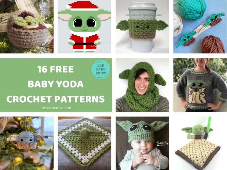 16 FREE BABY YODA CROCHET PATTERNS FACEBOOK POSTER