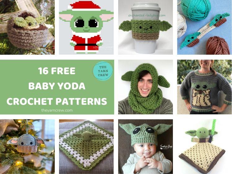 16 FREE BABY YODA CROCHET PATTERNS FACEBOOK POSTER