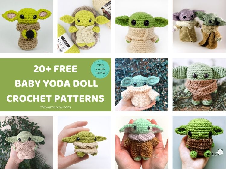20+ FREE BABY YODA DOLL CROCHET PATTERNS FACEBOOK POSTER