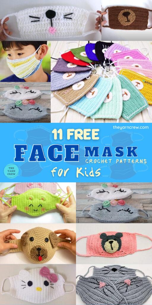 11 Free Face Mask Crochet Patterns For Kids