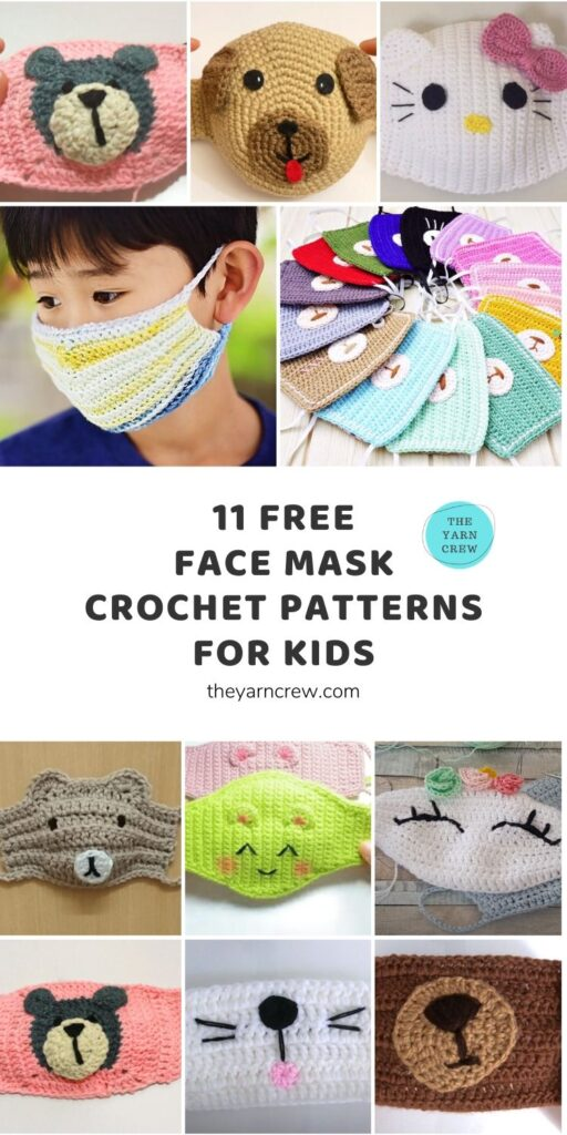 11 Free Face Mask Crochet Patterns For Kids Main Pinterest Pin Poster