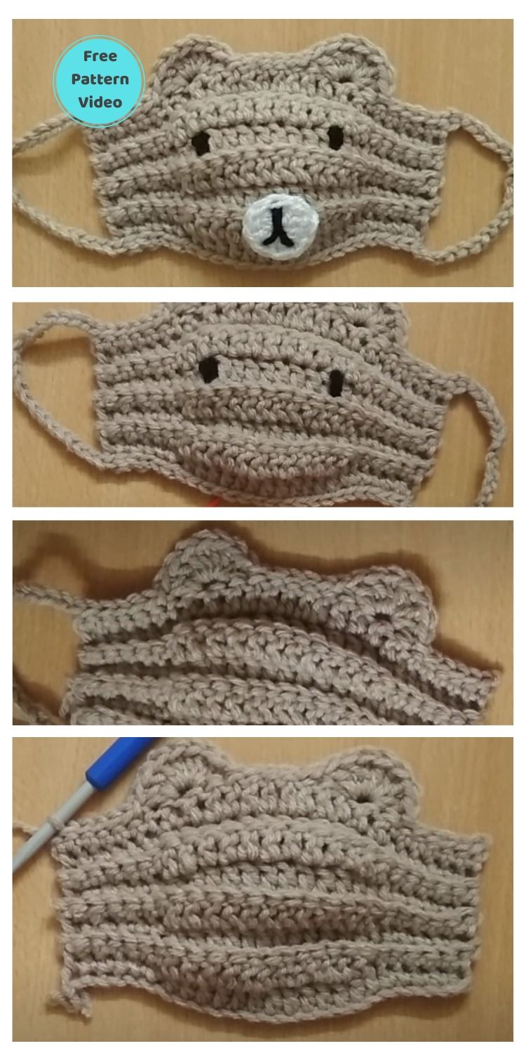 11 Free Face Mask Crochet Patterns For Kids PIN POSTER 10