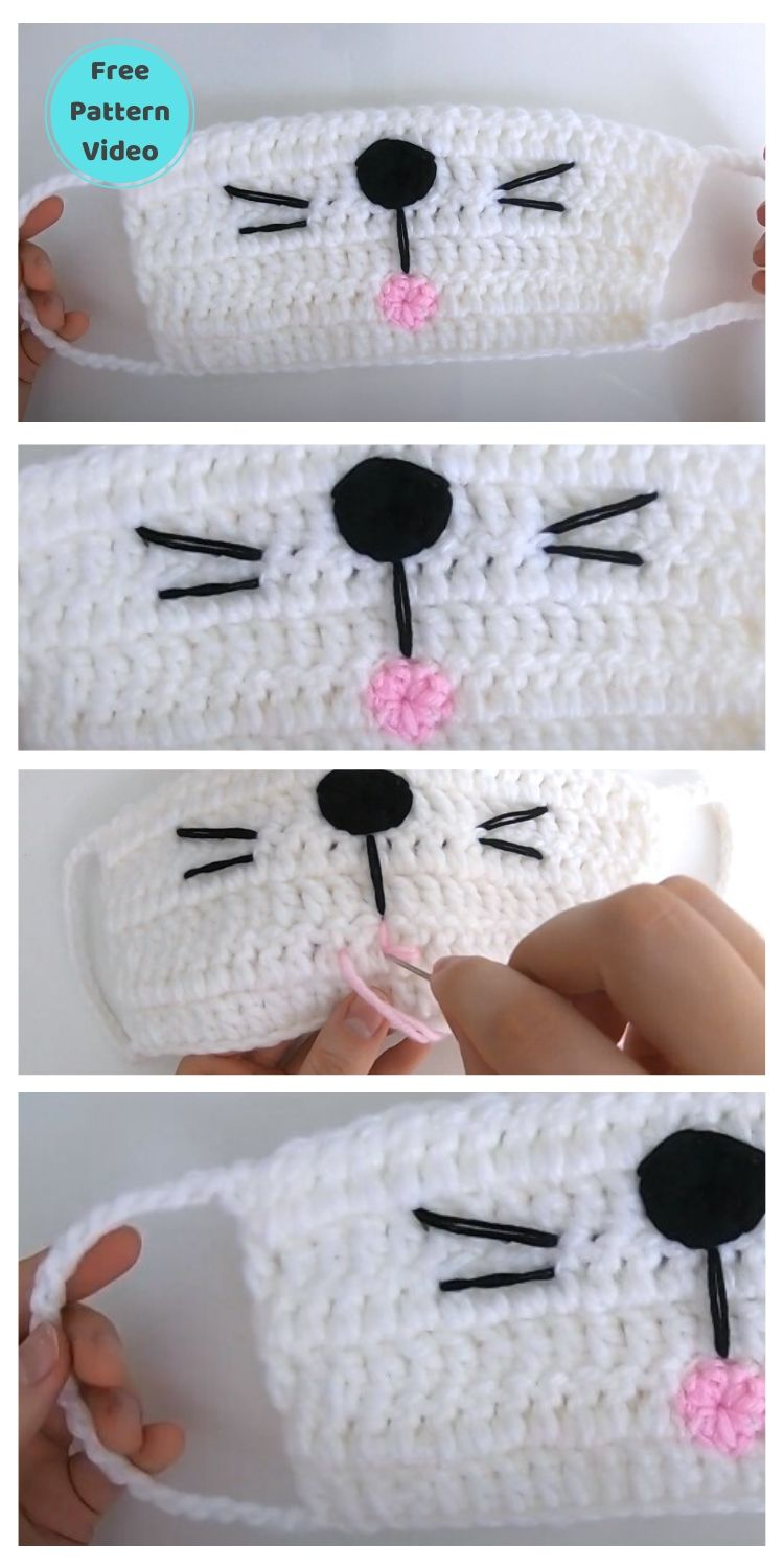 11 Free Face Mask Crochet Patterns For Kids PIN POSTER 4
