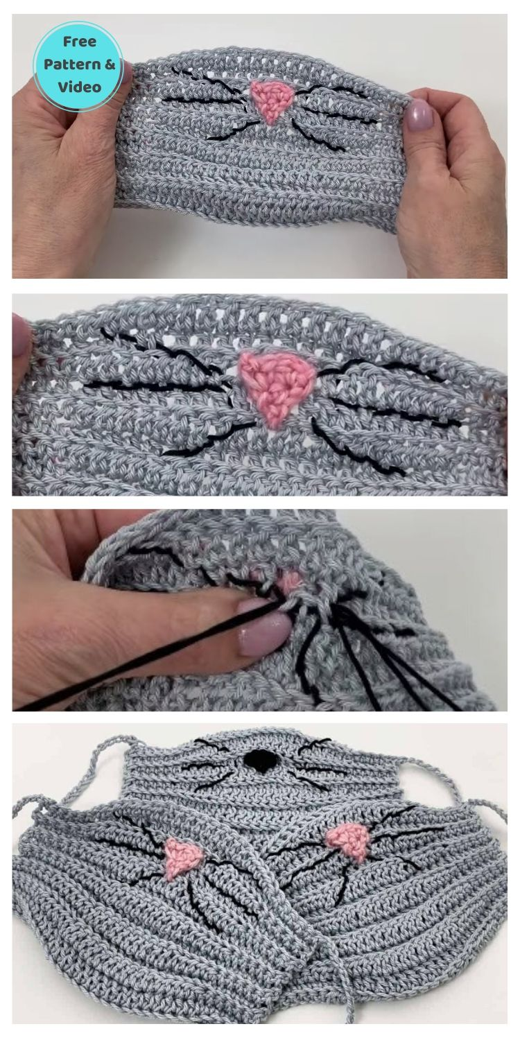 11 Free Face Mask Crochet Patterns For Kids PIN POSTER 5