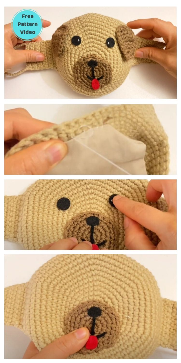 11 Free Face Mask Crochet Patterns For Kids PIN POSTER 7