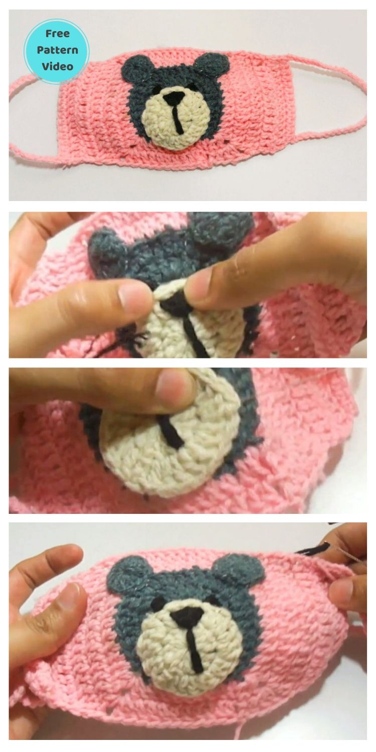 11 Free Face Mask Crochet Patterns For Kids PIN POSTER 8