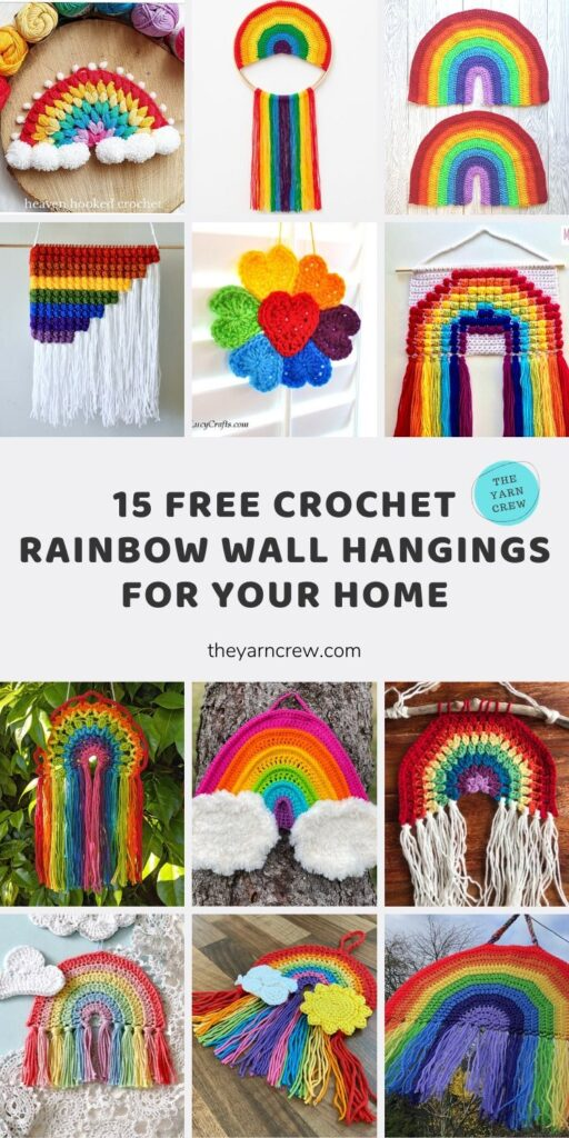 15 Free Crochet Rainbow Wall Hangings For Your Home Main Pinterest Poster