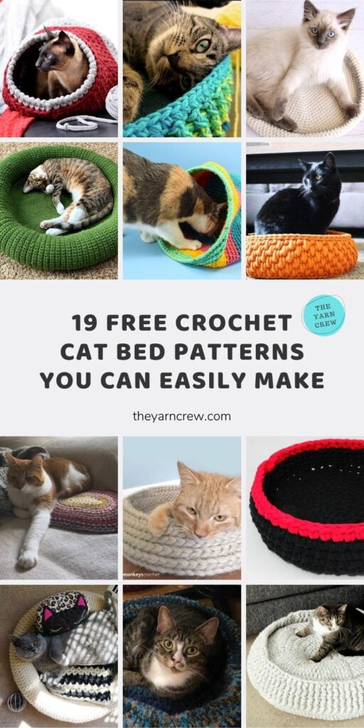 19 Free Crochet Cat Bed Patterns You Can Easily Make Main Pin Poster