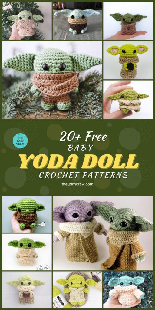 20+ Free Baby Yoda Doll Crochet Patterns (4)