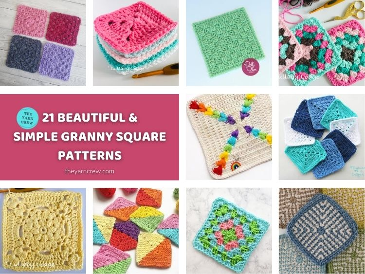 21 Beautiful & Simple Granny Square Patterns FACEBOOK POSTER 2