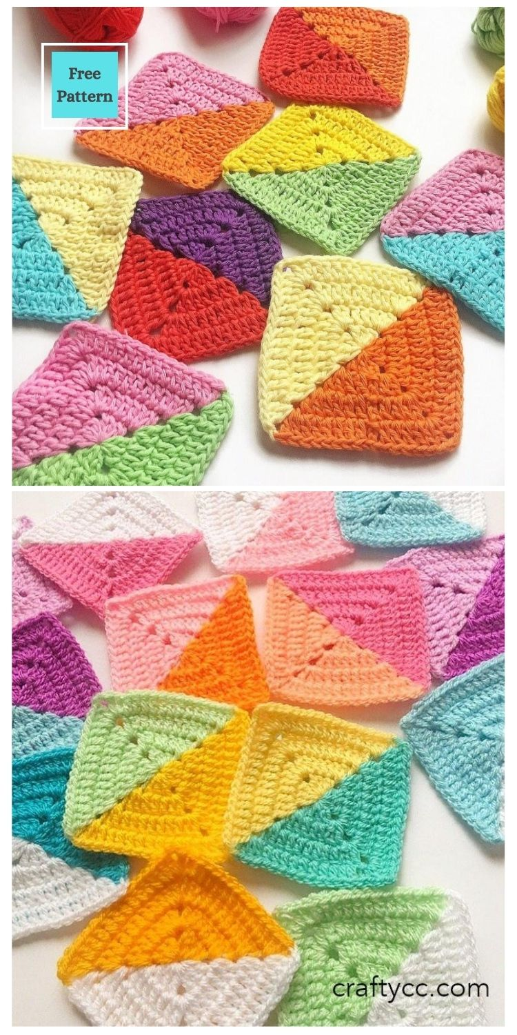 21 Beautiful & Simple Granny Square Patterns PIN POSTER 11