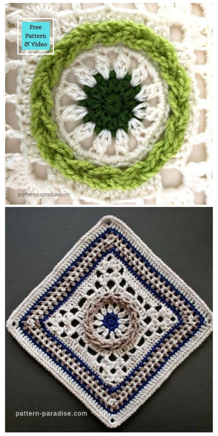 21 Beautiful & Simple Granny Square Patterns PIN POSTER 15