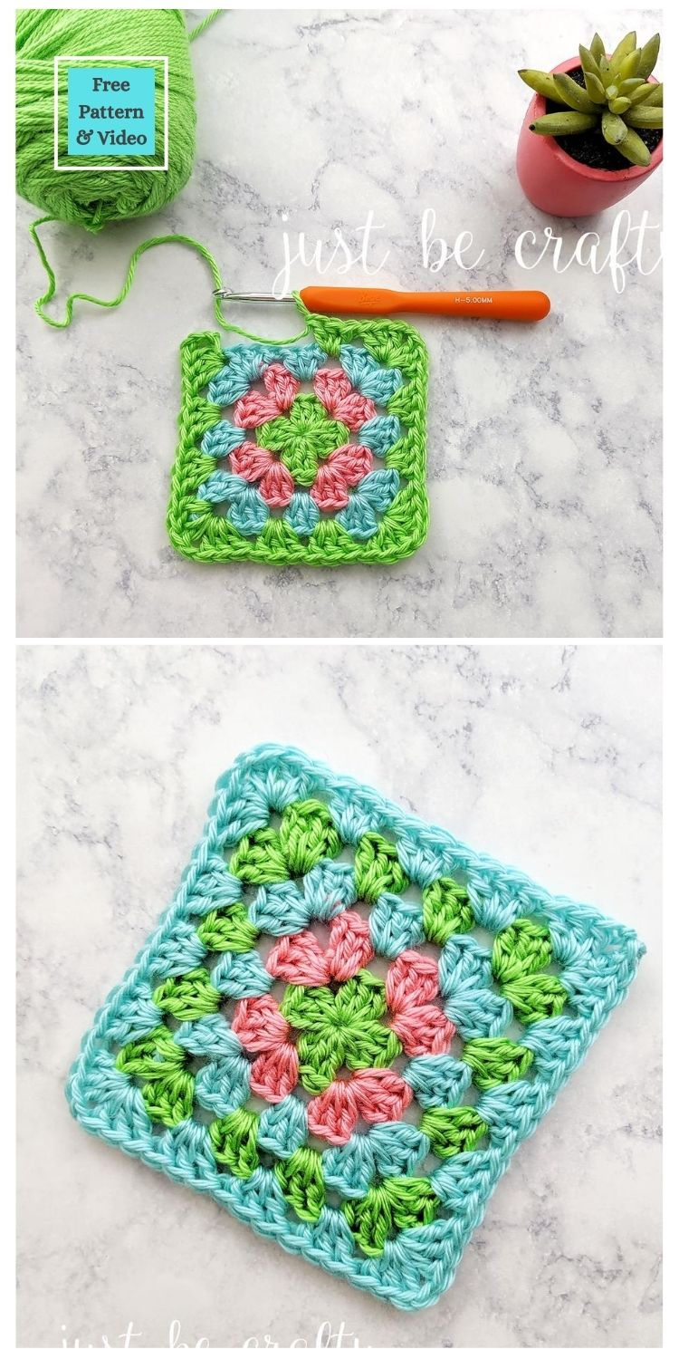 21 Beautiful & Simple Granny Square Patterns PIN POSTER 16