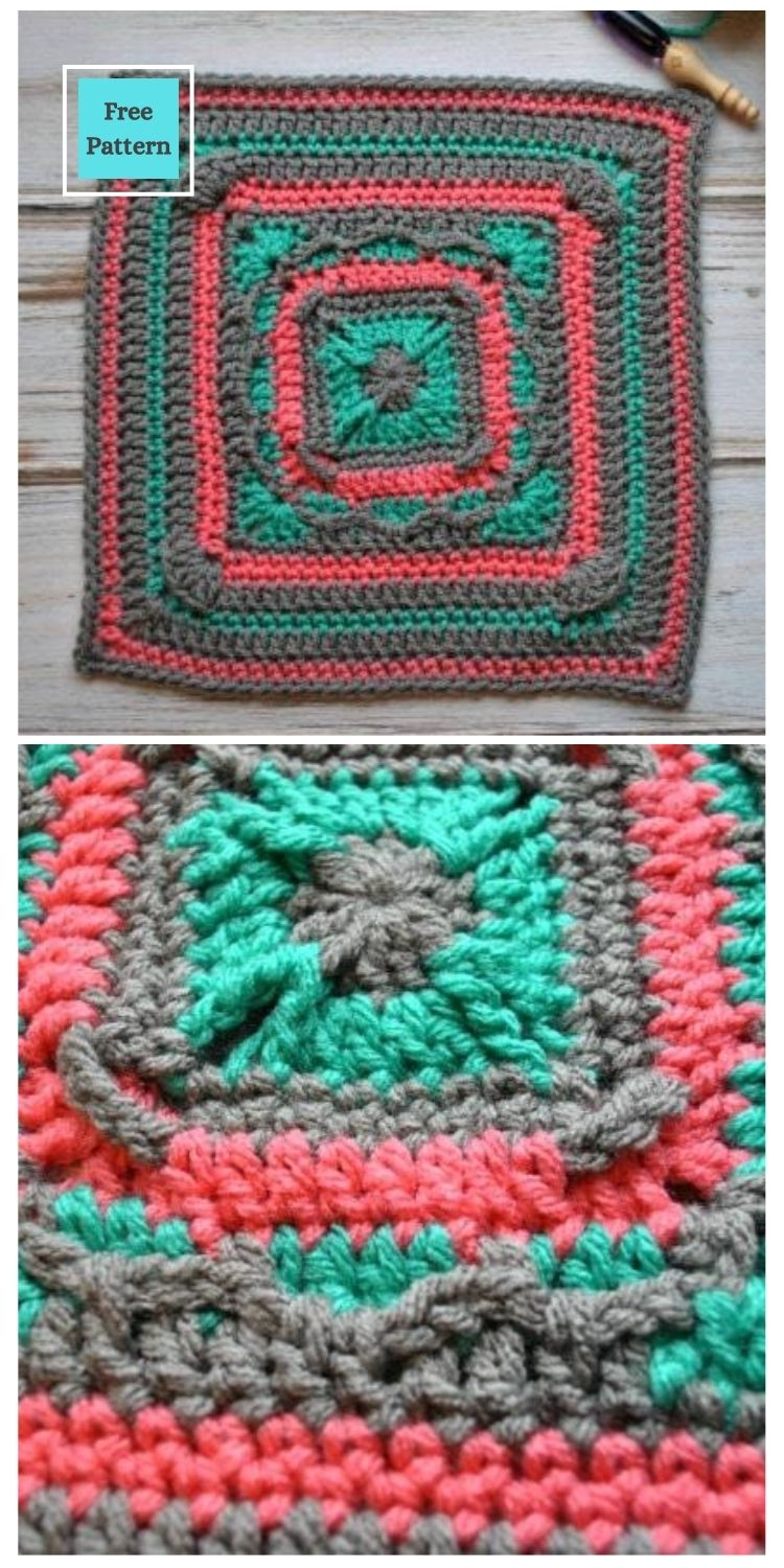 21 Beautiful & Simple Granny Square Patterns PIN POSTER 17