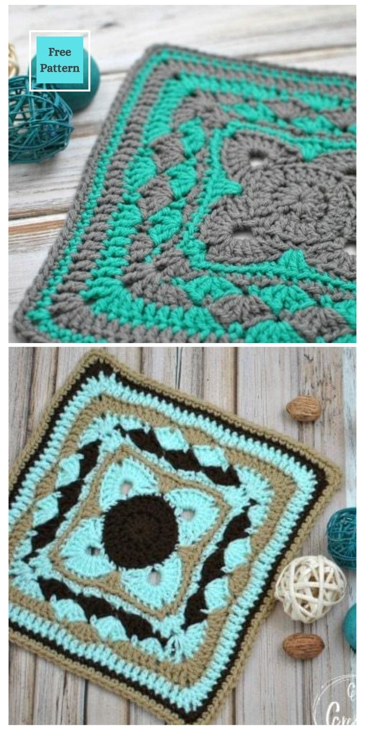 21 Beautiful & Simple Granny Square Patterns PIN POSTER 18