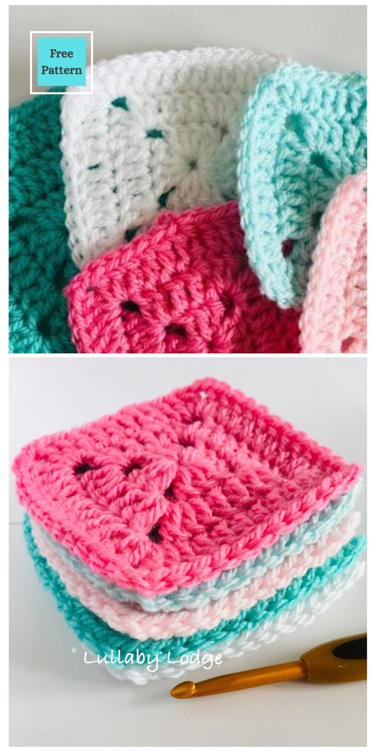 21 Beautiful & Simple Granny Square Patterns PIN POSTER 2