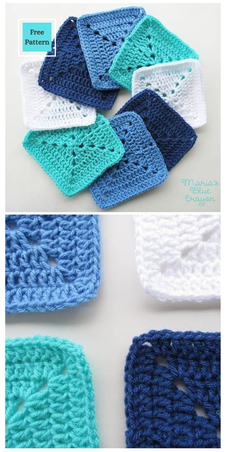 21 Beautiful & Simple Granny Square Patterns PIN POSTER 21