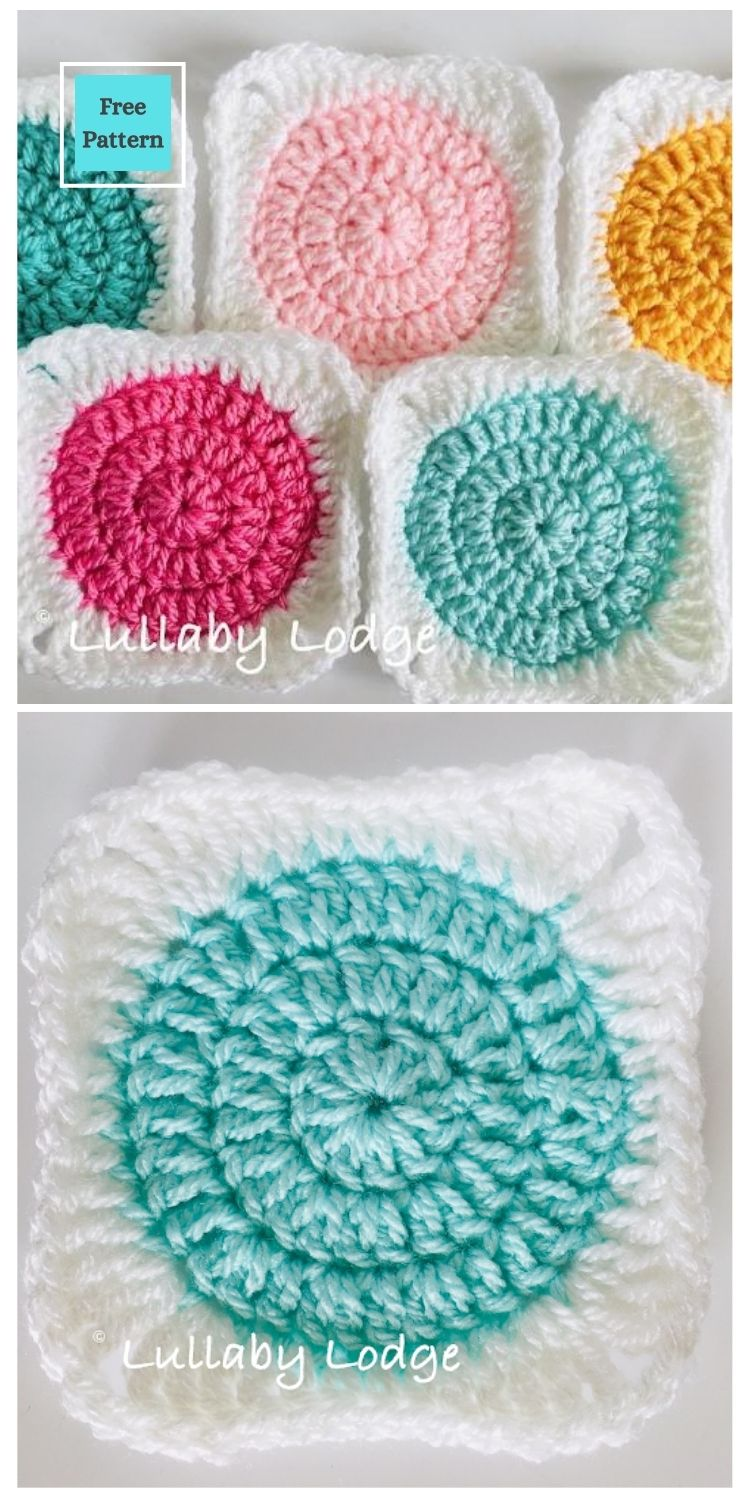21 Beautiful & Simple Granny Square Patterns PIN POSTER 3
