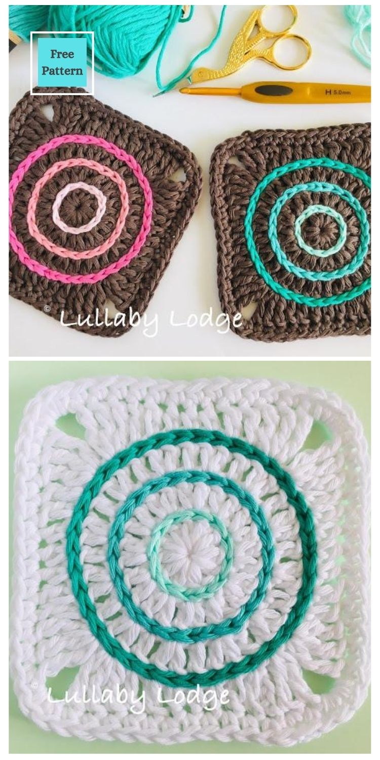 21 Beautiful & Simple Granny Square Patterns PIN POSTER 4