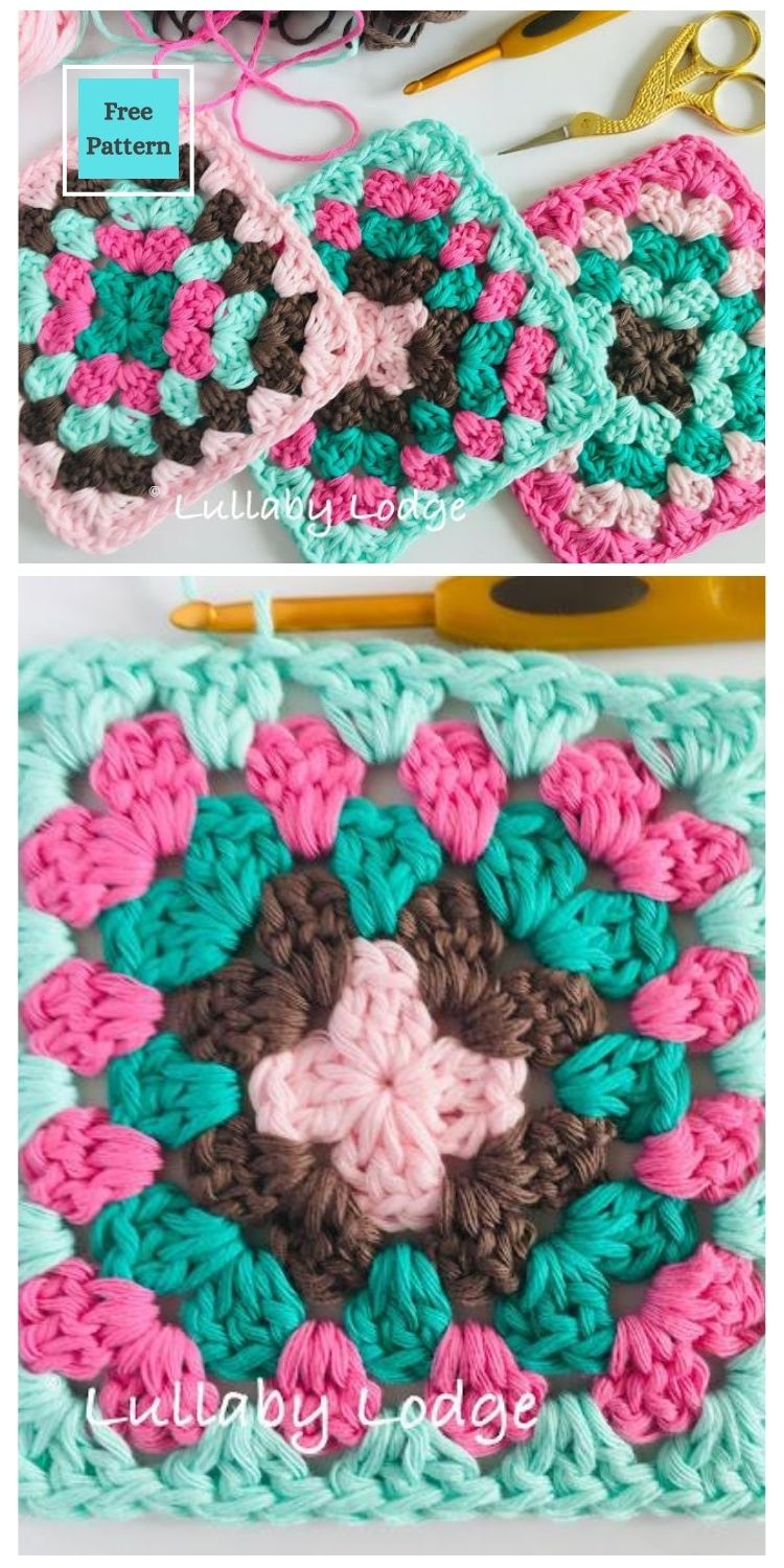 21 Beautiful & Simple Granny Square Patterns PIN POSTER 5