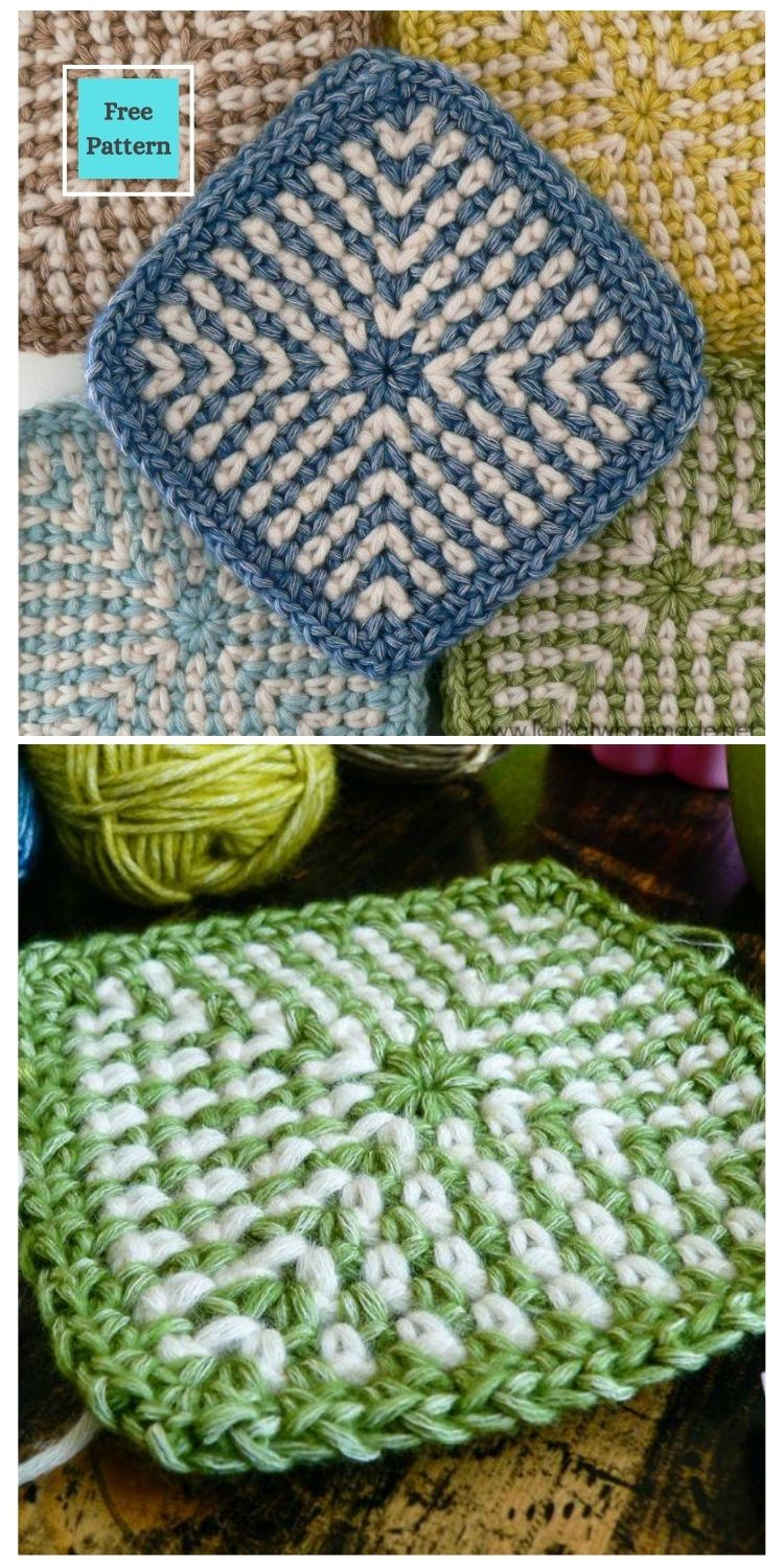 21 Beautiful & Simple Granny Square Patterns PIN POSTER 8