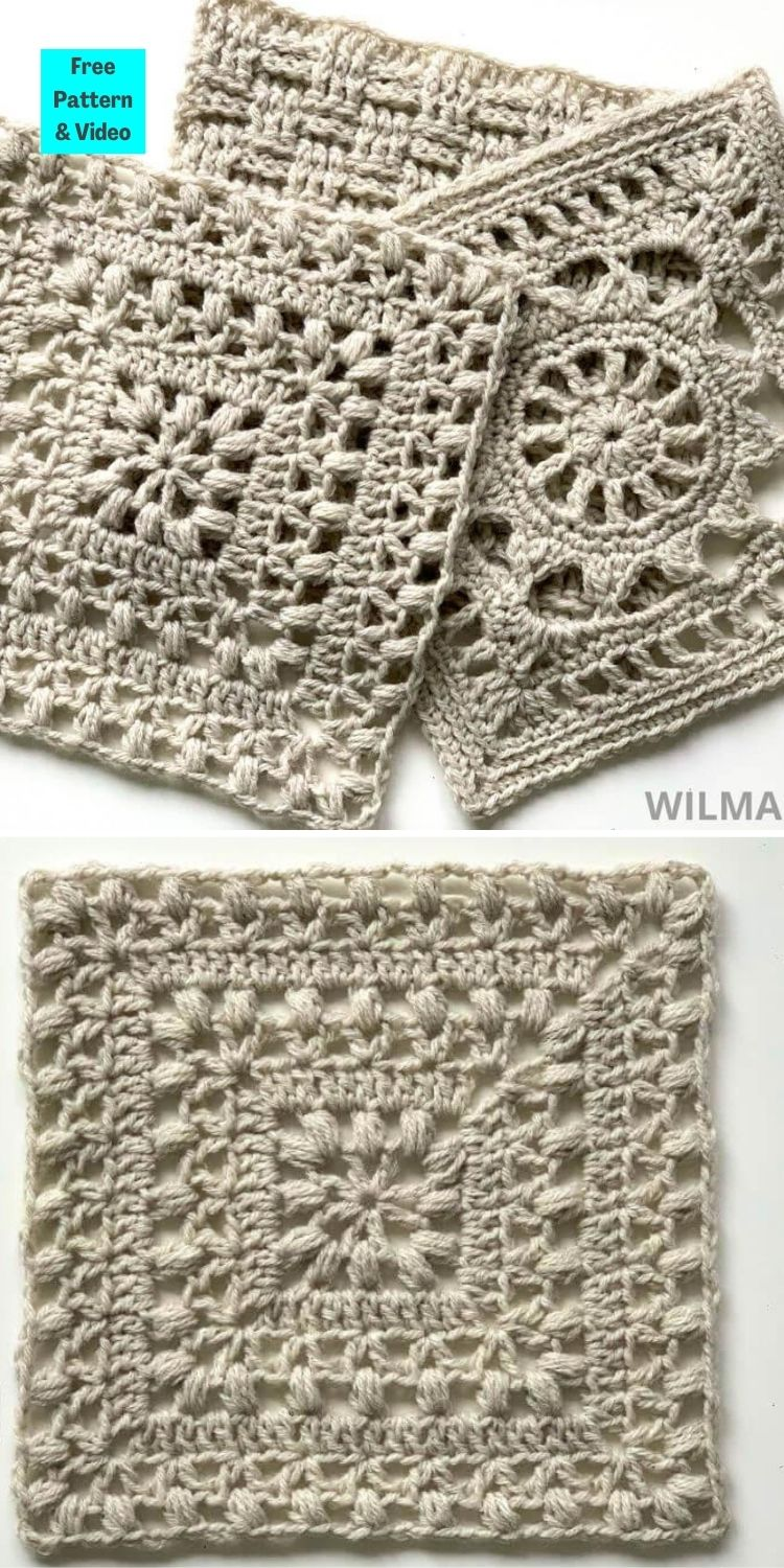 21 Beautiful & Simple Granny Square Patterns PINNED POSTER 7