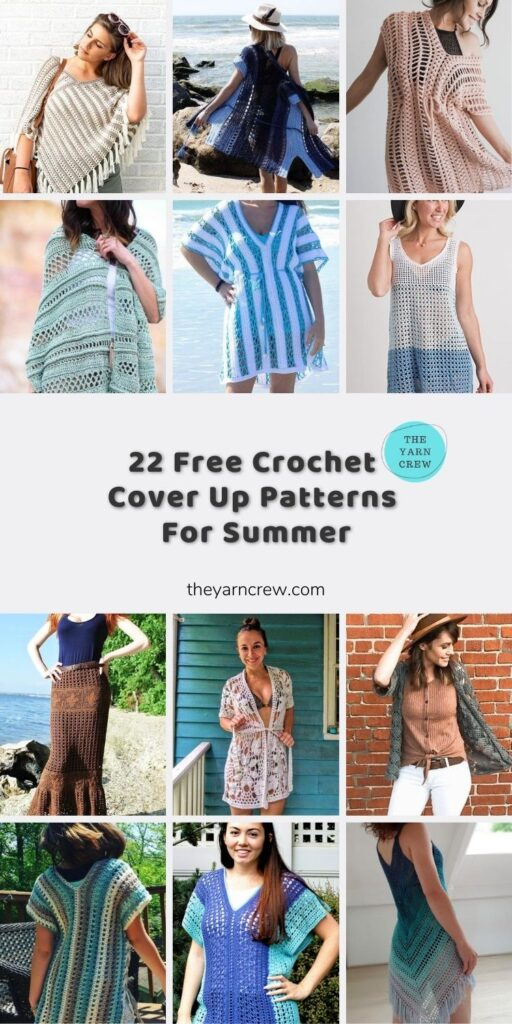 22 Free Crochet Cover Up Patterns For Summer Main Pin Poster