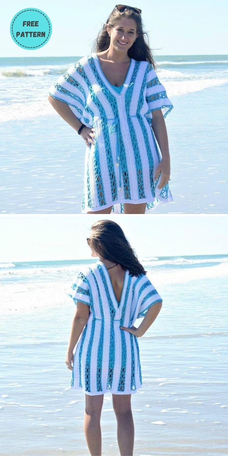 22 Free Crochet Cover Up Patterns For Summer PIN POSTER 1