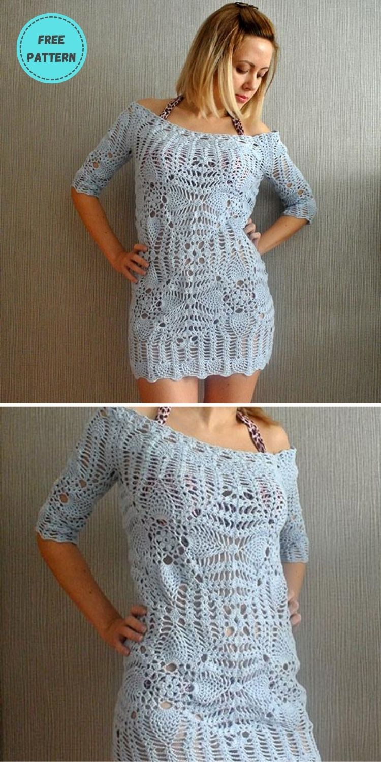 22 Free Crochet Cover Up Patterns For Summer PIN POSTER 10