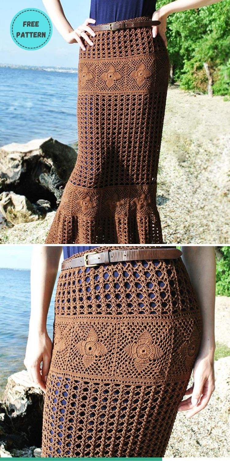 22 Free Crochet Cover Up Patterns For Summer PIN POSTER 11