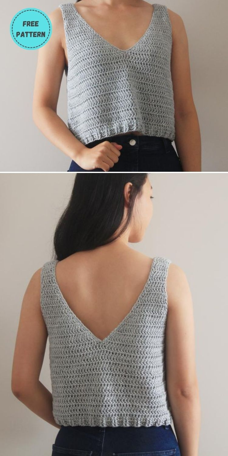 22 Free Crochet Cover Up Patterns For Summer PIN POSTER 12