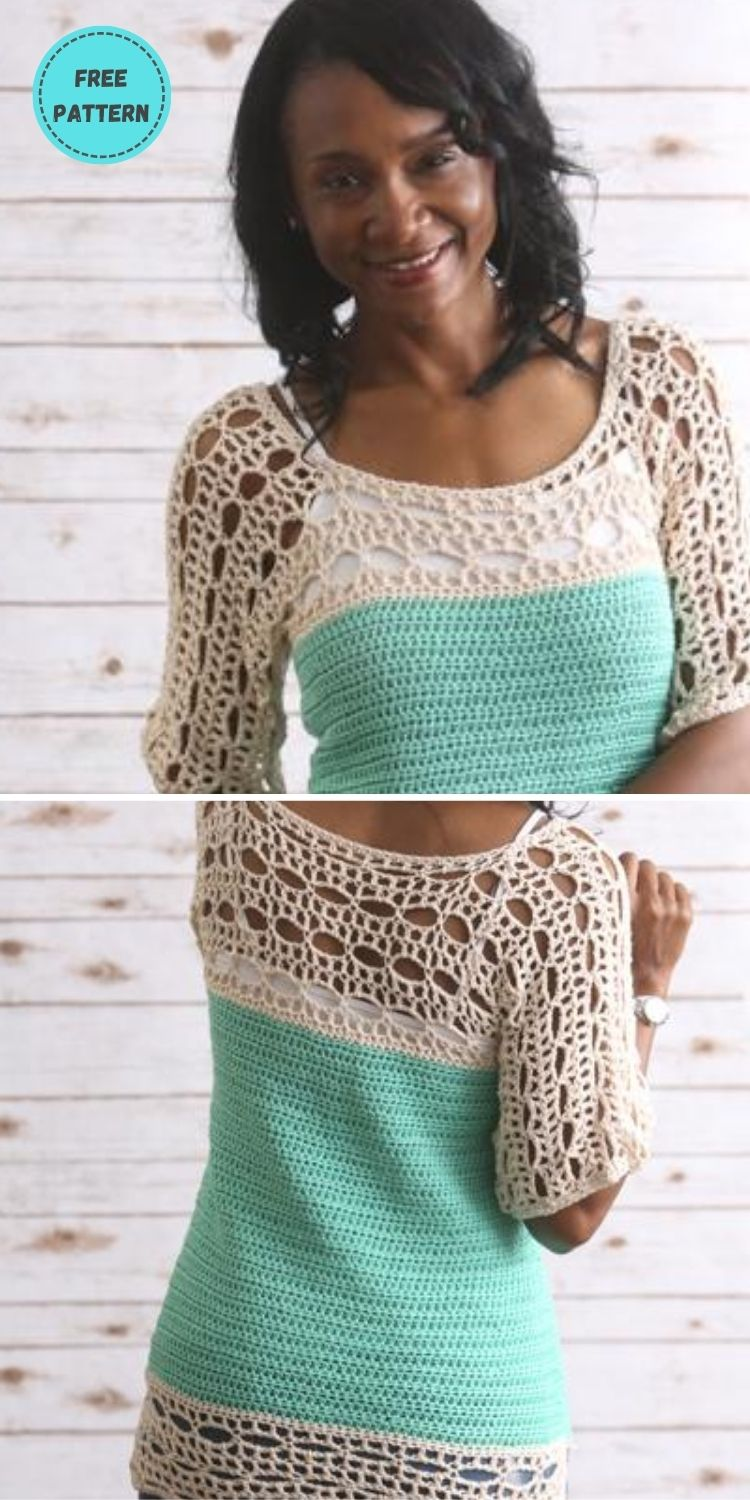 22 Free Crochet Cover Up Patterns For Summer PIN POSTER 13