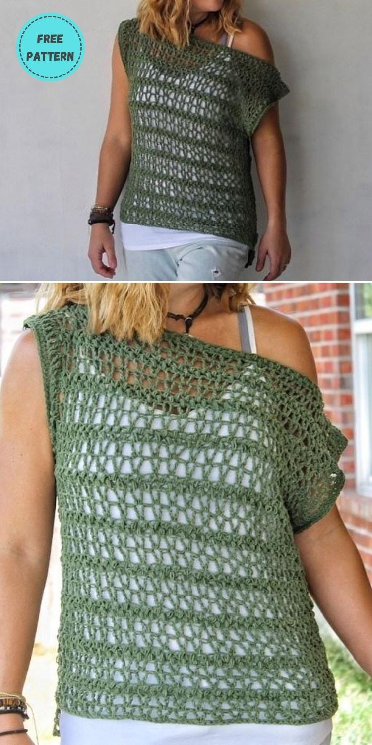 22 Free Crochet Cover Up Patterns For Summer PIN POSTER 15