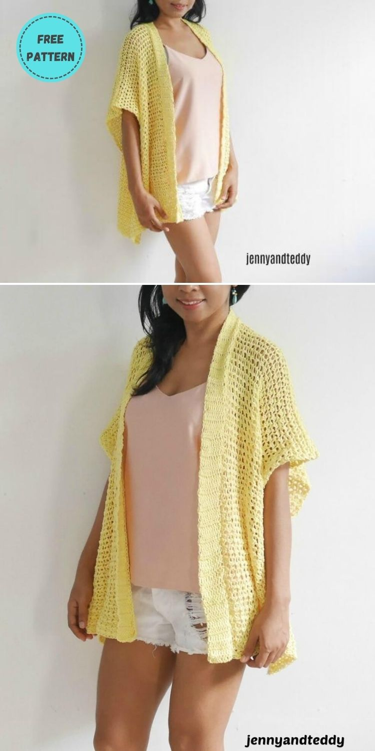 22 Free Crochet Cover Up Patterns For Summer PIN POSTER 16