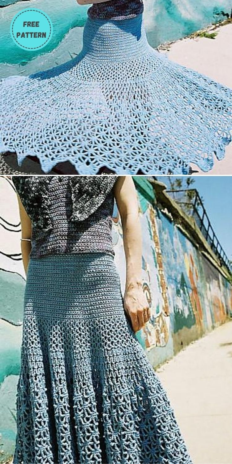 22 Free Crochet Cover Up Patterns For Summer PIN POSTER 19