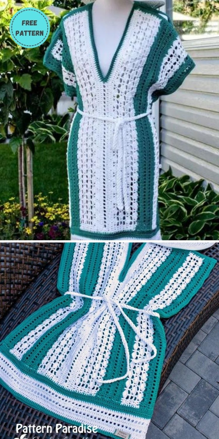 22 Free Crochet Cover Up Patterns For Summer PIN POSTER 2