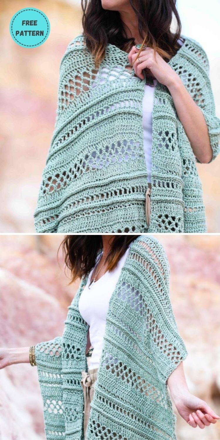 22 Free Crochet Cover Up Patterns For Summer PIN POSTER 22