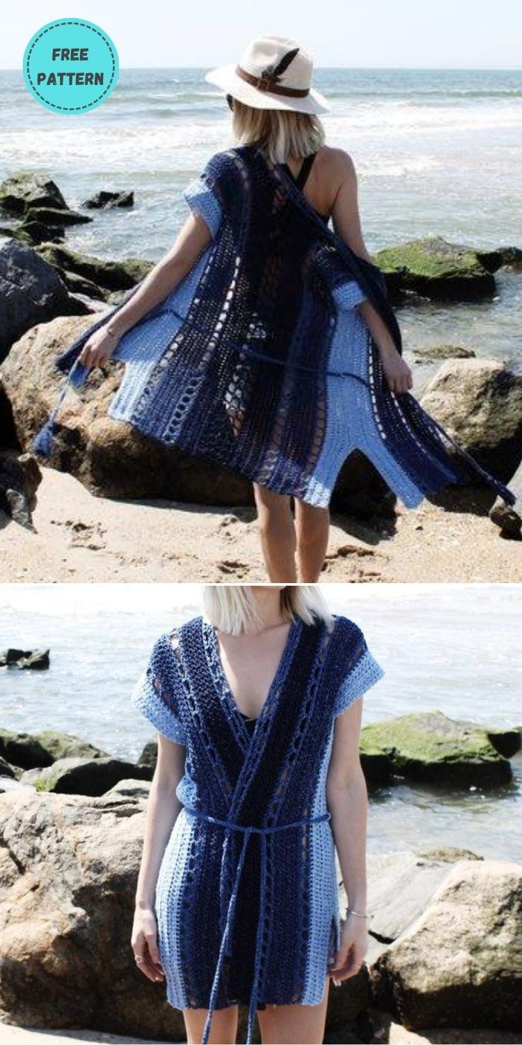 22 Free Crochet Cover Up Patterns For Summer PIN POSTER 4