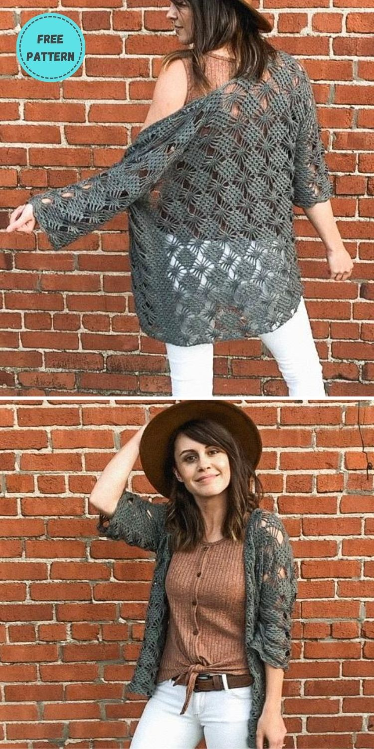 22 Free Crochet Cover Up Patterns For Summer PIN POSTER 6