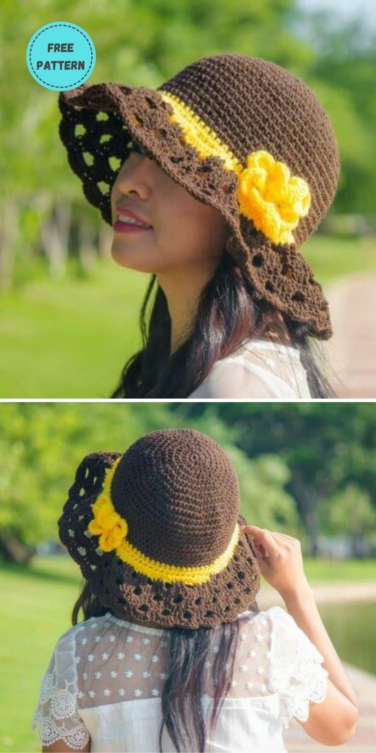 22 Free Crochet Summer Hats To Make This Year PIN POSTER 10