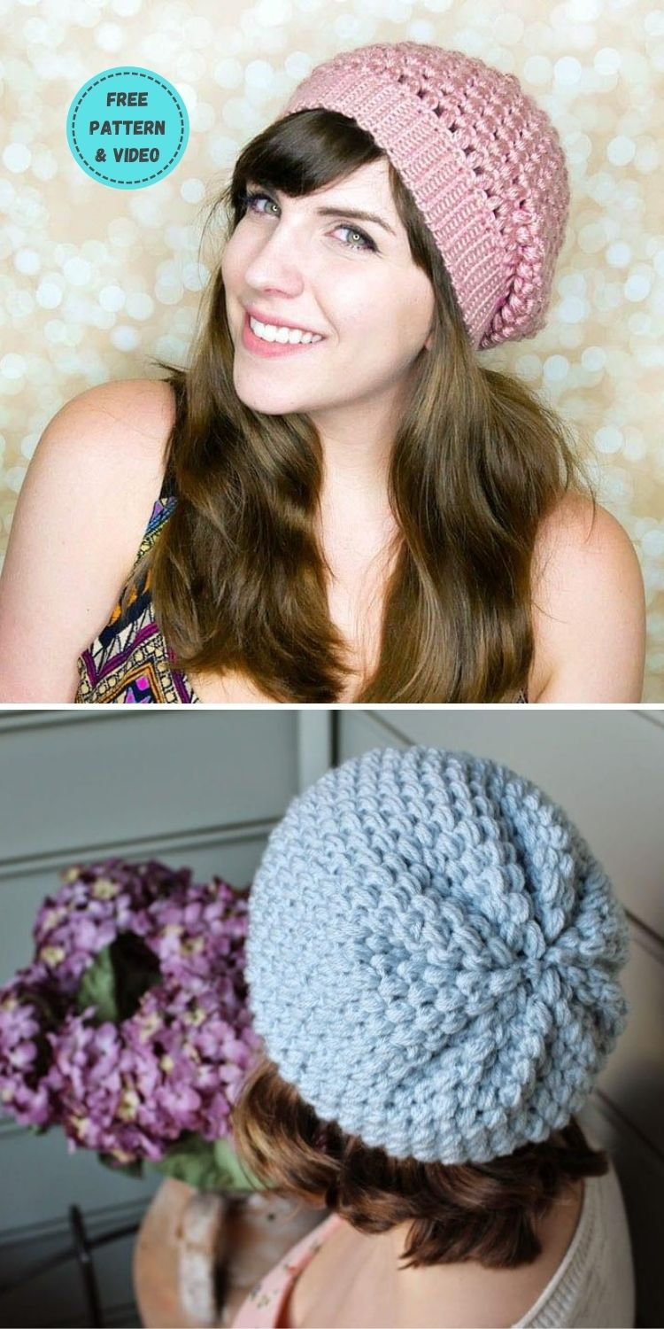22 Free Crochet Summer Hats To Make This Year PIN POSTER 13