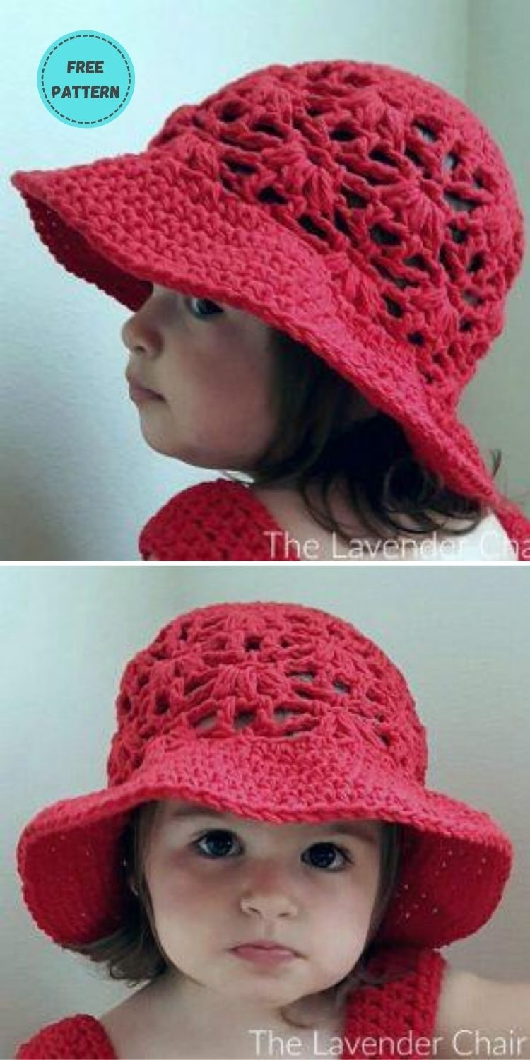 22 Free Crochet Summer Hats To Make This Year PIN POSTER 14