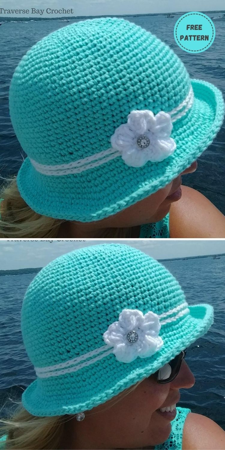 22 Free Crochet Summer Hats To Make This Year PIN POSTER 15