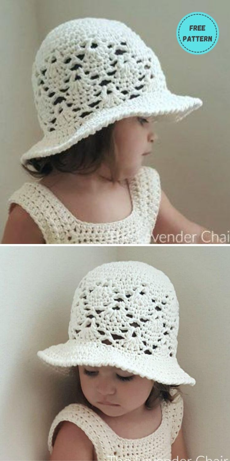 22 Free Crochet Summer Hats To Make This Year PIN POSTER 18