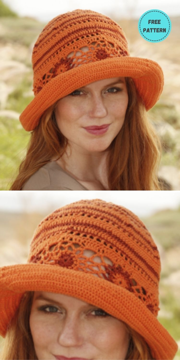 22 Free Crochet Summer Hats To Make This Year PIN POSTER 19