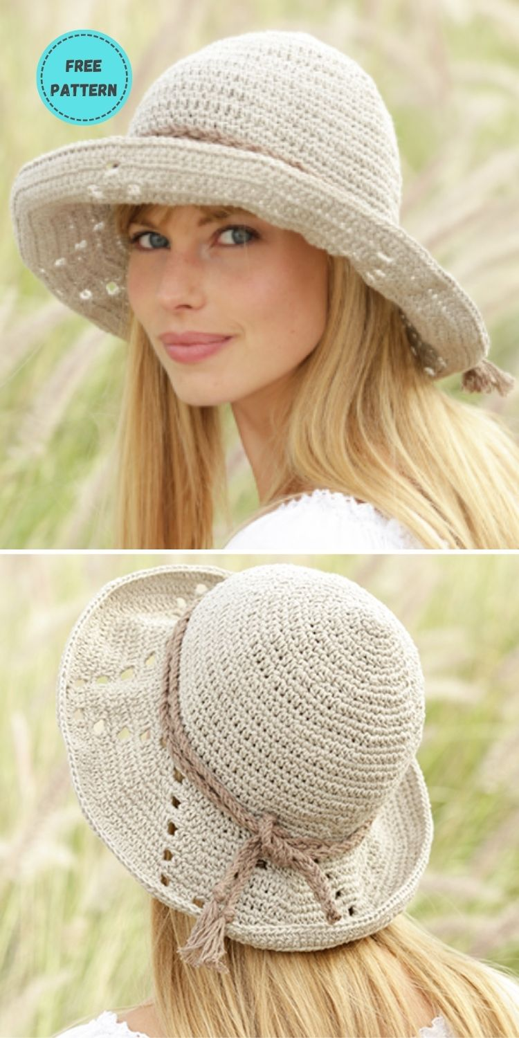 22 Free Crochet Summer Hats To Make This Year PIN POSTER 2