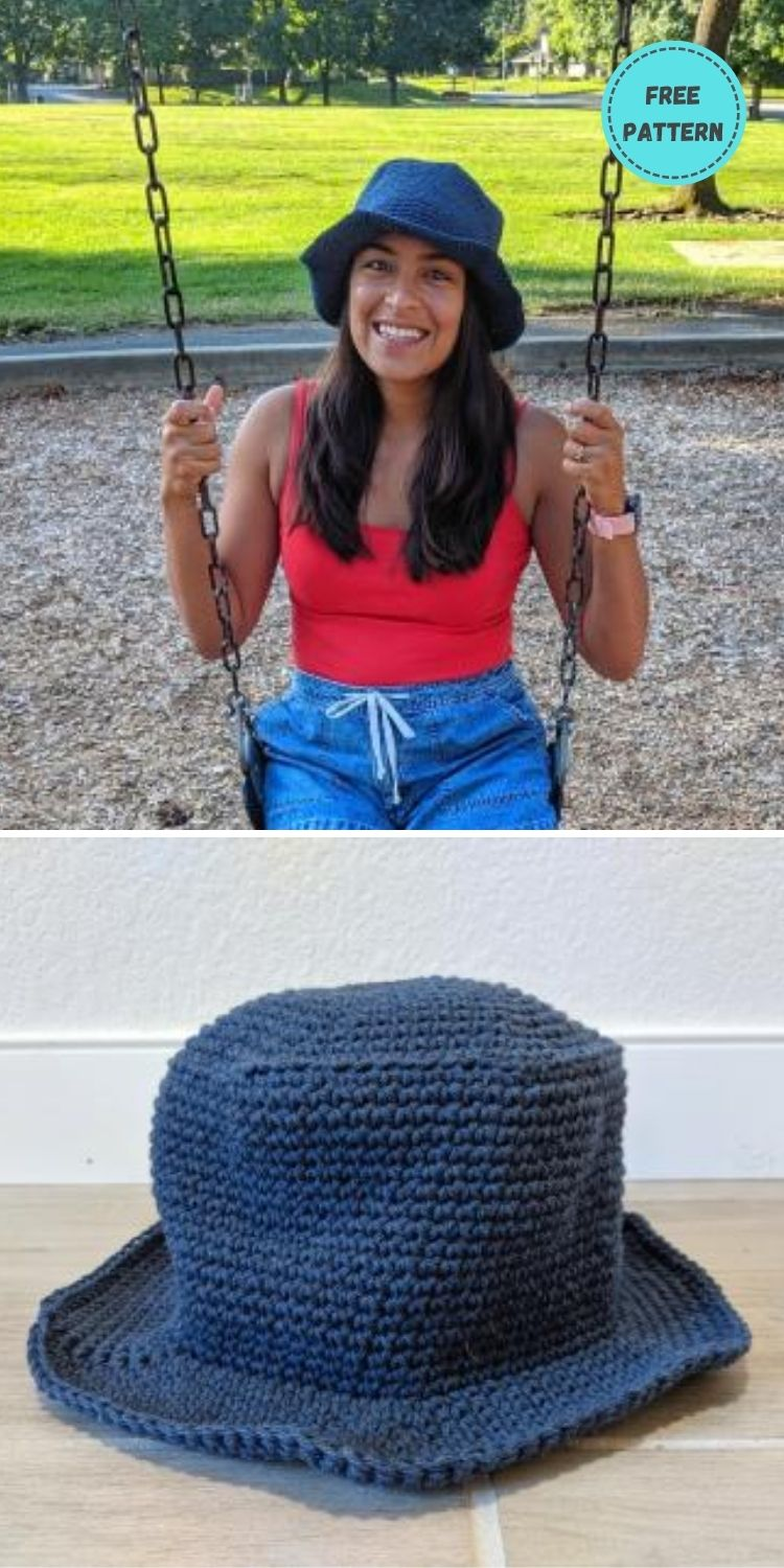 22 Free Crochet Summer Hats To Make This Year PIN POSTER 21