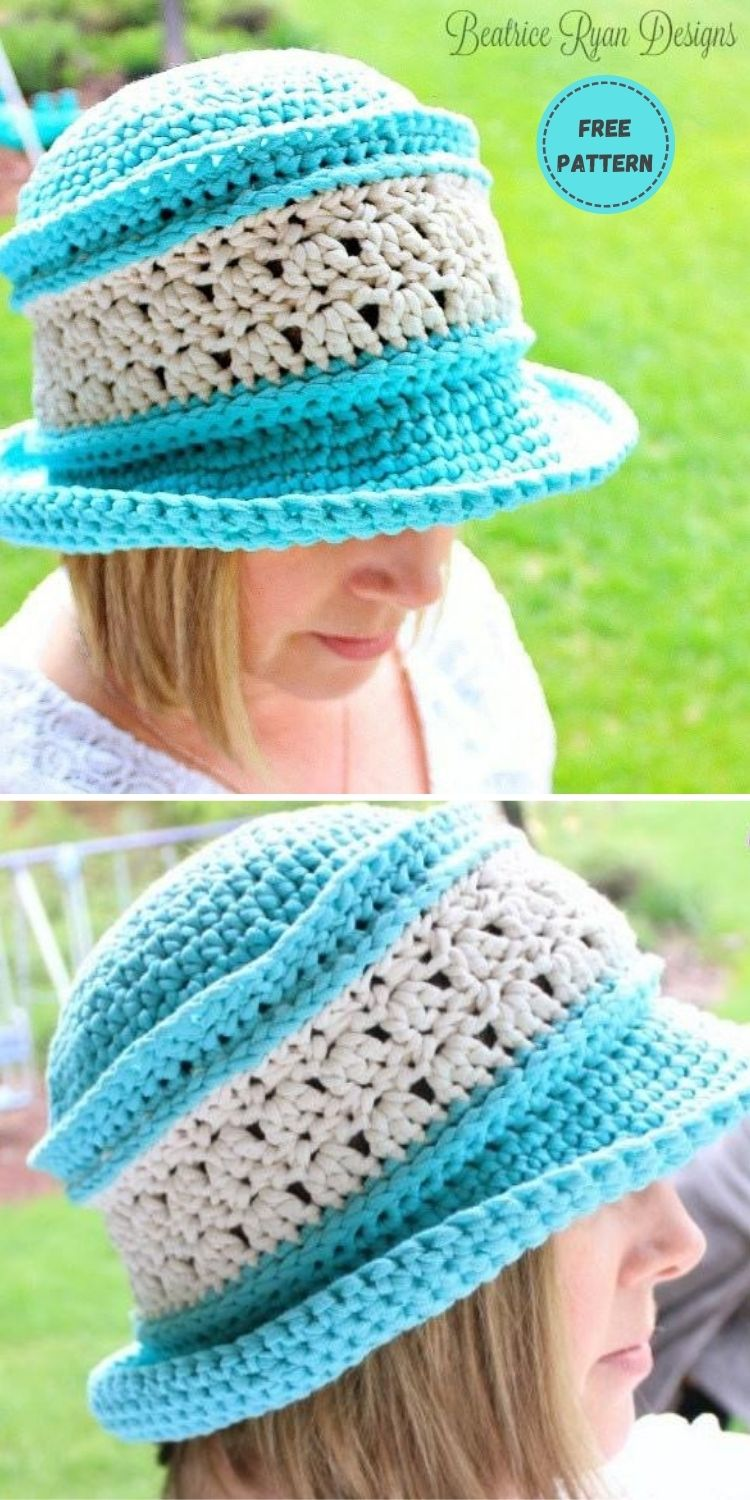 22 Free Crochet Summer Hats To Make This Year PIN POSTER 3
