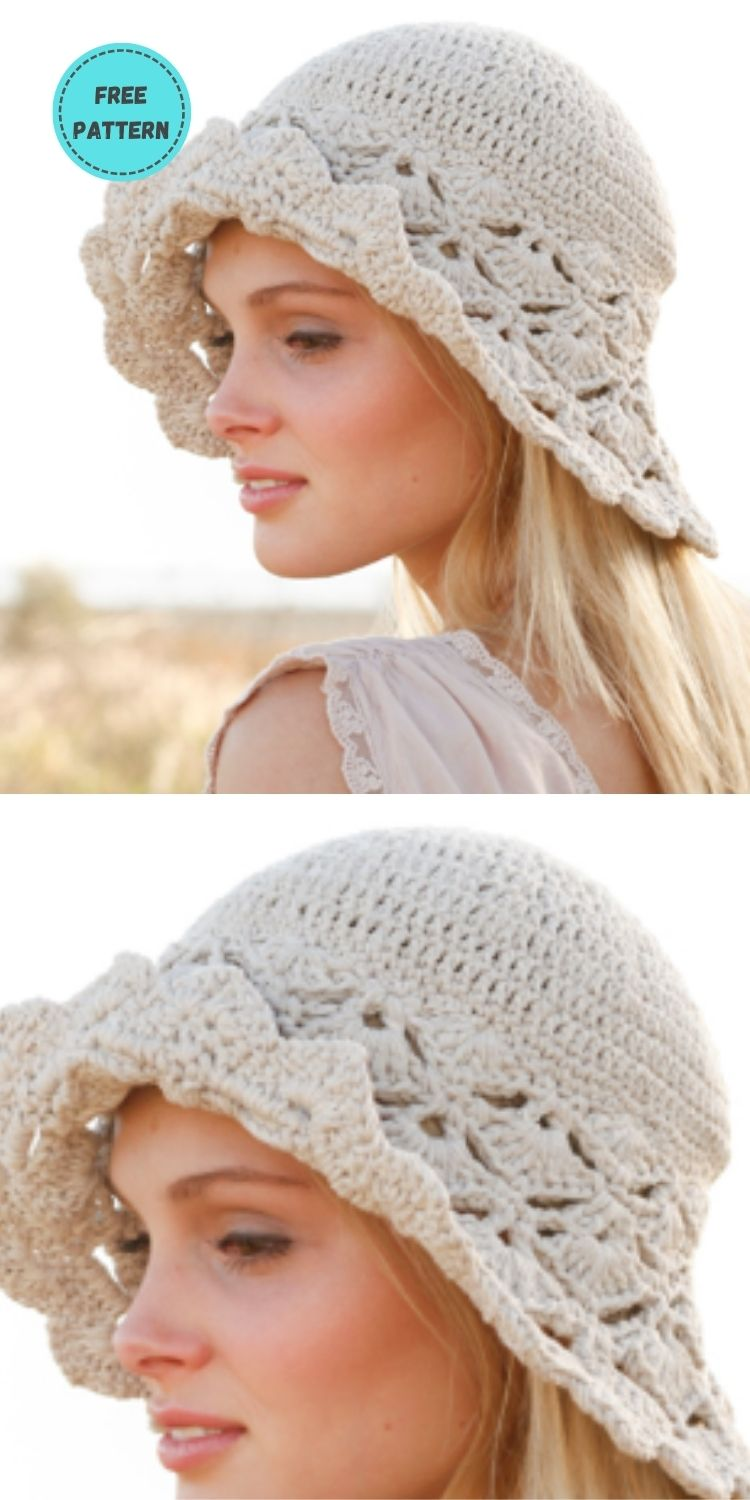 22 Free Crochet Summer Hats To Make This Year PIN POSTER 7