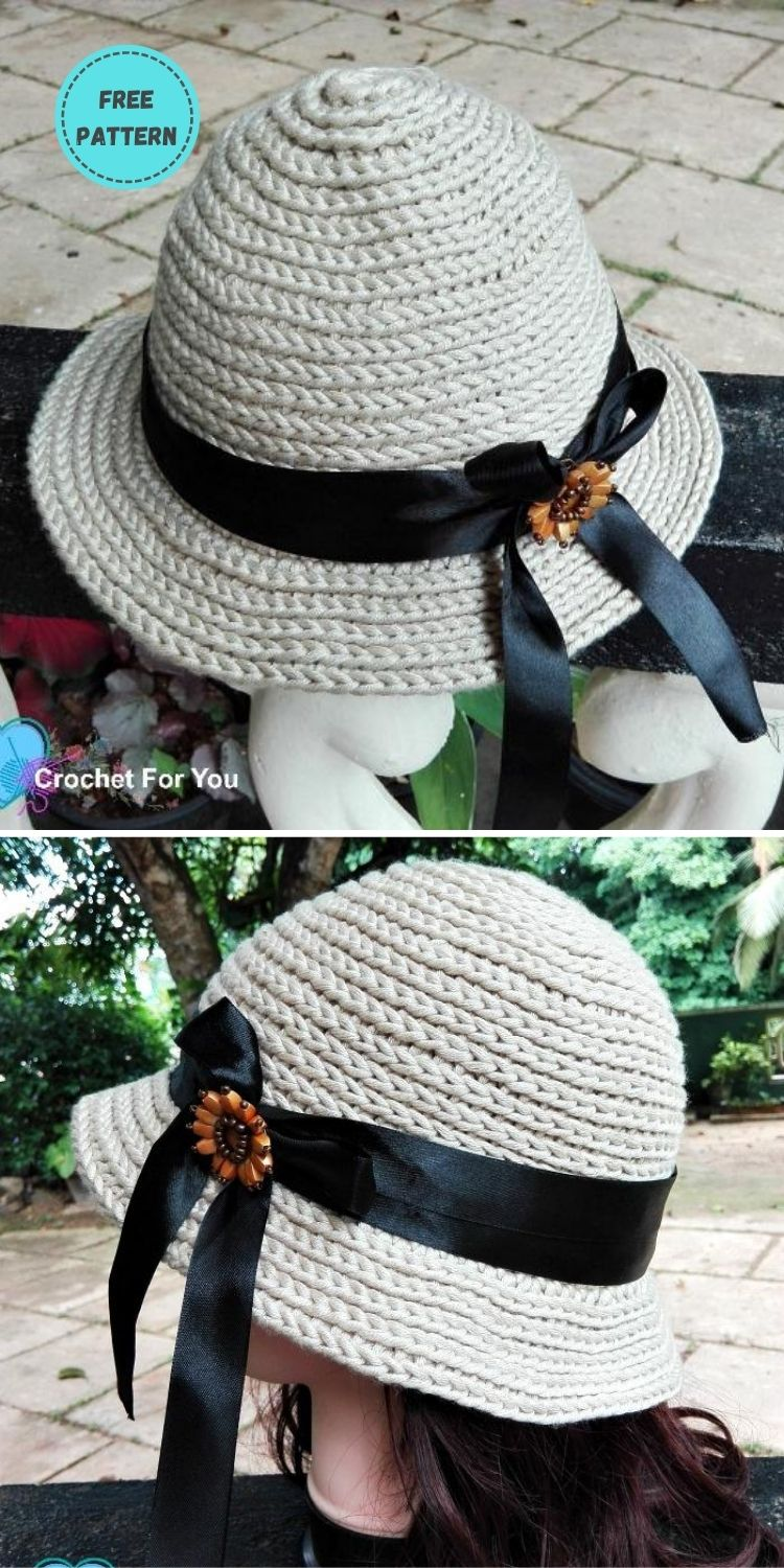 22 Free Crochet Summer Hats To Make This Year PIN POSTER 9